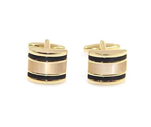 MoreTeam Men Gold Opal Cufflinks Set with Gift Box for Tuxedo Shirts Business Wedding (Golden Opal)