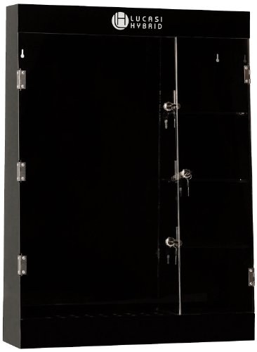 Hybrid Display (Pro Series CDC97 Deluxe Lucasi Hybrid Branded 10-Cue Pool Cue Display Case with Accessory Compartment)