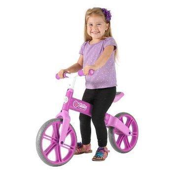 Y Velo Jr. Double Wheel Balance Bike - Pink