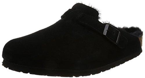 Birkenstock Boston Sheepskin Womens Clogs Black 41 W EU