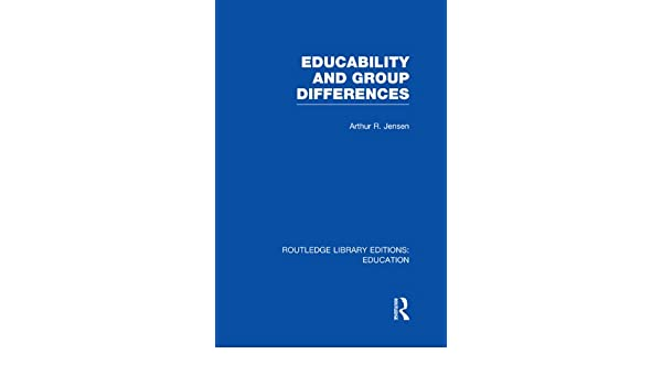 Educability and Group Differences - CRC Press Book