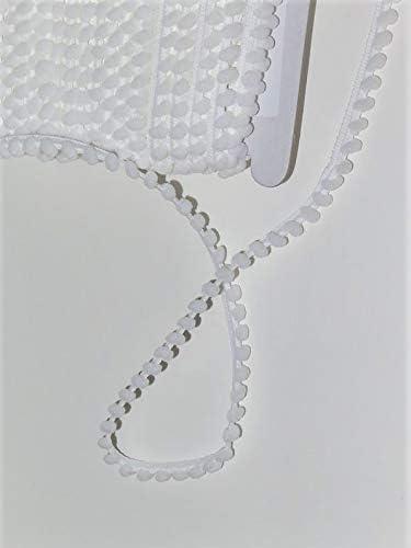 Focal20 Pom Fringe Bobble Edge Trim Ribbon Color White DIY Sewing Decoration