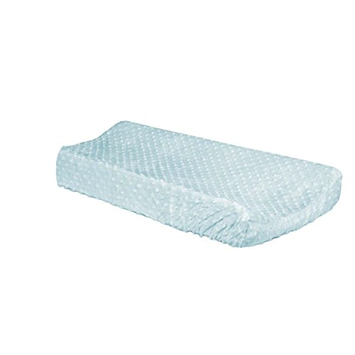 bkb Minky Dot Flat Changing Pad Cover, Blue