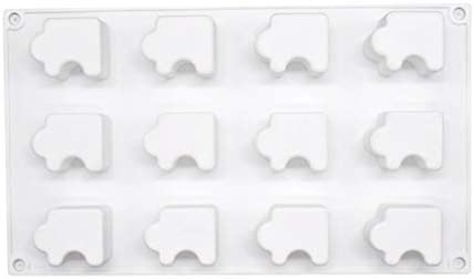 bluederst 12/20ホールノンスティックシリコーンソープモールド3Dパズルキャンドルチョコレートケーキベーキング