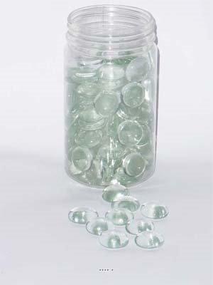 Artificielles Galets De Verre Neutre Decoration Vase Table Tube