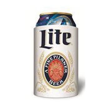 - Miller Lite Throwback Vintage Beer Can Cooler 12oz Huggie Coolie Kaddy