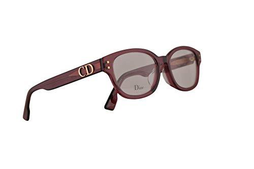 Christian Dior DiorCD2 Eyeglasses 46-22-145 Burgundy Opal w/Demo Clear Lens LHF CD2 - Dior Christian Cd Eyeglasses Frame