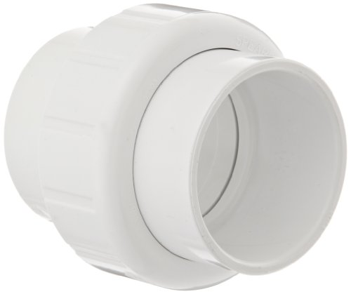 Spears 497 Series PVC Pipe Fitting, Union with EPDM O-Ring, Schedule 40, 1-1/2