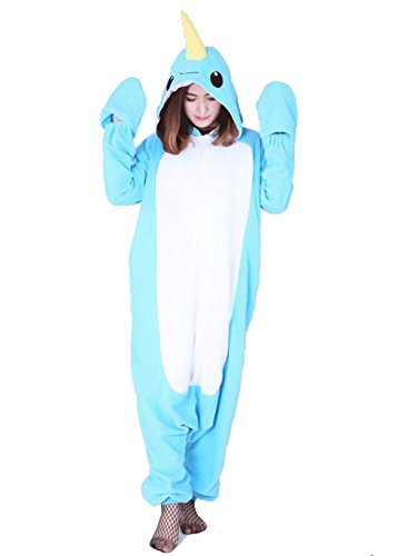 Jormarcos Adult Unisex Animal Cosplay Pajamas Narwhal Costumes Homewear Onesie ()