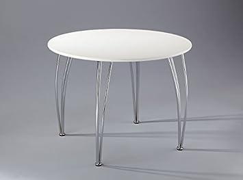 Arne Jacobsen Style Inspired White Dining TableEmily 4 Seater