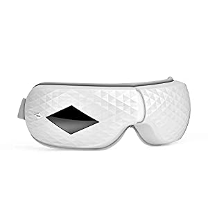 Electric Eye Massager,AnGeer Foldable Rechargeable Eye Mask Massager with Heat Compression & Air Pressure & Music by Infrared Sensing Gesture Control