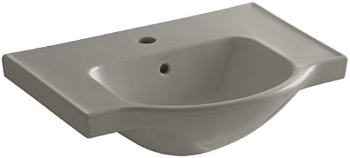 KOHLER K-5248-1-K4 Veer Single-Hole Sink Basin, 24-Inch, Cashmere