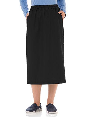 Fundamentals 14231 Women's Classic Elastic Waist Scrub Skirt Black L