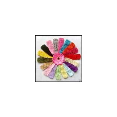 """1.5"""" Baby Girls Crochet Headbands (12 Total)"""