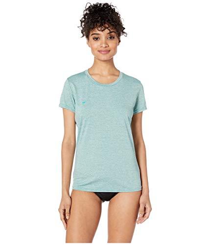 O'Neill Wetsuits Women's Hybrid UPF 50+ Short Sleeve Sun Shirt, Eucalyptus, X-Large