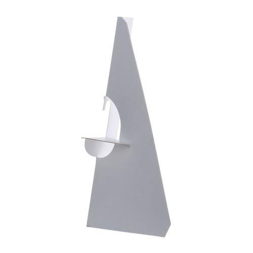 Self-Stick Chipboard Easel Backs 25/Pkg-White Single-Wing 5 Lineco 43954995