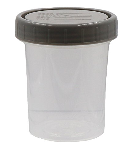 4 oz Specimen Cups with Lids | cc & ml Measurement Markings (25 Pack)