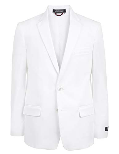 Tommy Hilfiger Boys' Big Twill Blazer Jacket, fine White, -