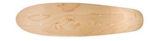 Ridge Premium Mini Cruiser Skate Deck / Twin Tip Deck / Pintail Longboard Deck in Ahorn: Natural
