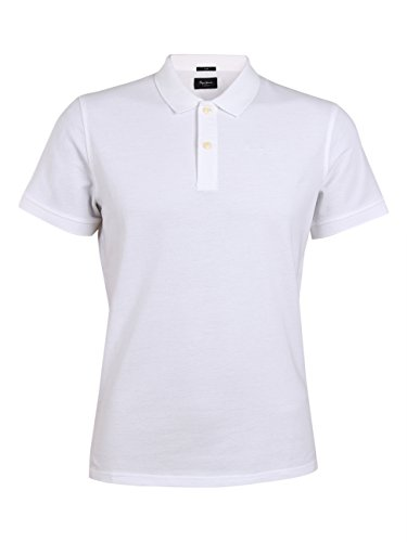 Pepe Jeans London Herren Polo Shirt Vincent PM541009 White-L