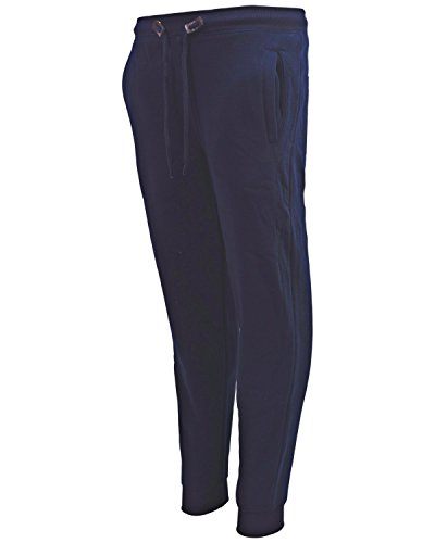 School Tracksuit - Galaxy by Harvic Boys Active Basic Fleece Jogger Pant, Navy, Large/14-16'