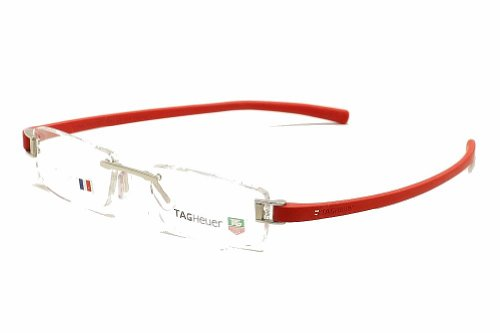 Tag Heuer Eyeglasses 7103 003 Red TagHeuer Rimless Optical Frame ...