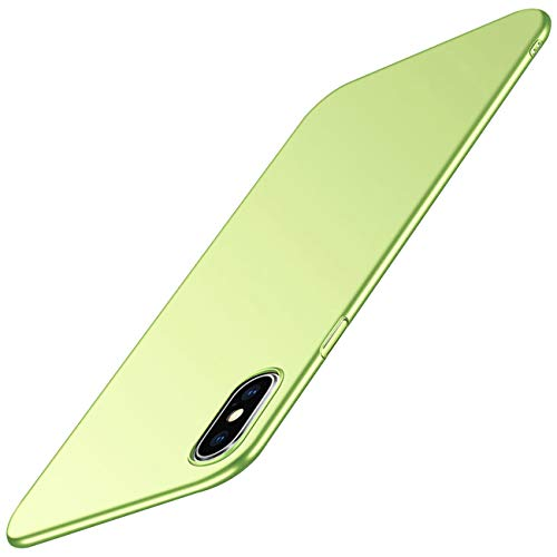 Case Compatible for iPhone Xs Max,Ultra Slim Hard PC Bumper Full-Body Protective Cover for Apple iPhone XR (Green, iPhone XR)