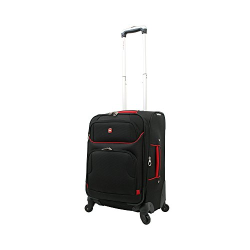 "SwissGear Black and Red Luggage Collection 20"" Spinner"
