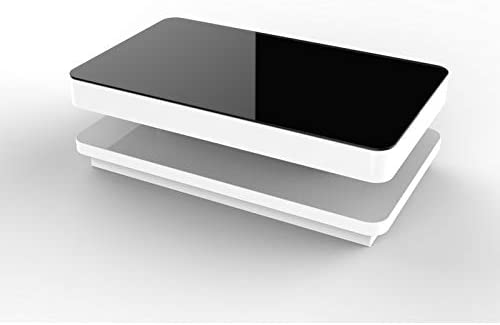 Mecor Coffee Table Design Modern High Gloss White Table For Living Room Furniture120 X 70 X 36 Cm