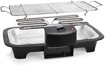 Tristar Barbecue électrique BQ-2883, sur Pied 70 cm, 2000 W, 38 x 22 cm, Noir