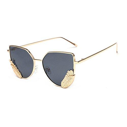Aoligei Version européenne des lunettes de soleil mode réflectorisé tendance lunettes de soleil en forme de papillon-lunettes de soleil lunettes Ynsyk4