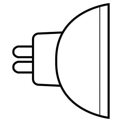 GE Lighting Halogen Lamp, 50 watt, 12 volt, MR16, 2-Pin (GX5.3) Base, 890 lumens, 100 CRI, 2950 K - 50w 12v Gx5.3 Base
