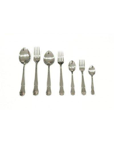 Genérico - Juego 6 cucharas mesa modelo 125 gotas magefesa