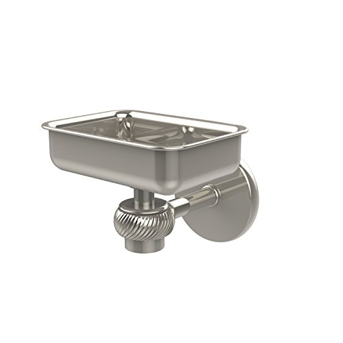 (Allied Brass 7132T-PNI Satellite Orbit One Wall Mounted Soap Dish with Twisted Accents, Polished Nickel)
