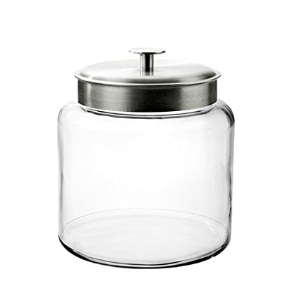 Amazoncom Anchor Hocking Montana Glass Jar With Fresh Sealed Lid