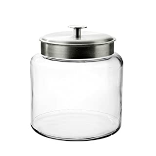 Anchor Hocking Montana Glass Jar with Fresh Sealed Lid, Brushed Metal, 1.5 Gallon (B000RMO41M) | Amazon Products