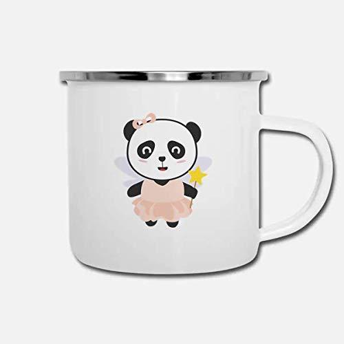 ILC   Panda Fairy In Costume   Girl 10oz enamel Camping Coffee Mug ()