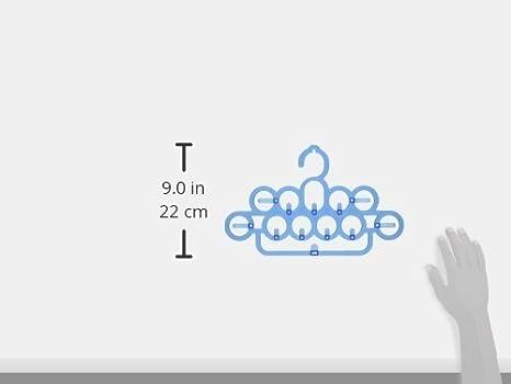 eDealMax plástico 12 enganchan el estante de ropa Toallas suspensión de la pared, 36cm, azul - - Amazon.com