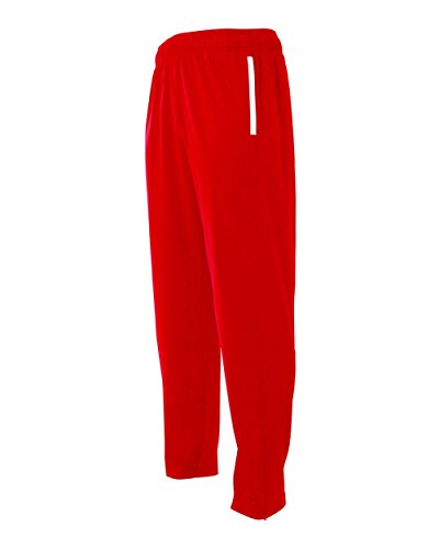 Red Adult XS Athletic Warm Up Wicking Pants Elastic Waist Band with Draw Cord