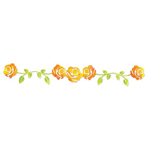 (Sizzix 658512 Sizzlits Decorative Strip Die, Rose Vine by Scrappy Cat, Yellow)