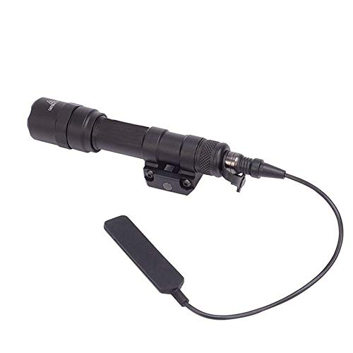 (FARMSOLDIER M600C Mini Scout Compact LED WeaponLight 220 Lumens with 2 x CR123A Batteries for Hunting Hiking Black)