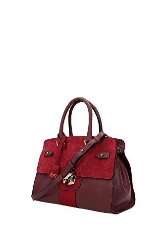 Bolso de Mano Liu Jo Mujer Piel Rojo y Oro A65240P000691521 Rojo 14x23x31.5 cmEU