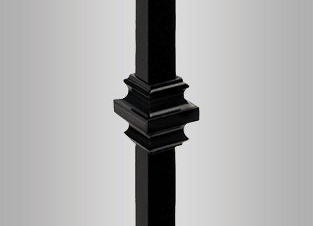 Deckorators Square Estate Baluster Collar- Black - 10 Pack (Deckorators - Collar Baluster