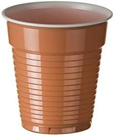 Sumicel Vaso de plástico 165 ml para Maquina automática en marrón