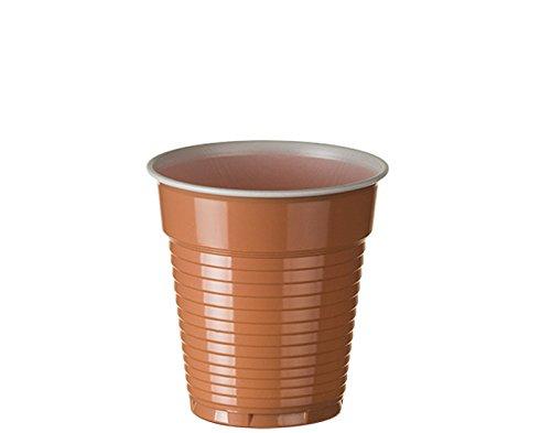 Sumicel Vaso de pl/ástico 165 ml para Maquina autom/ática en marr/ón