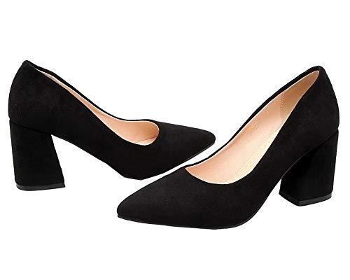 Alto Tirare AgooLar Donna Ballet Puro Tacco GMMDB007207 Nero Flats Plastica UvU6xgIwq