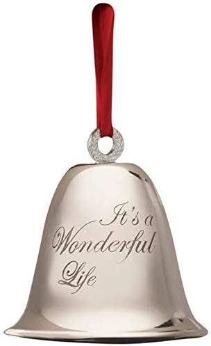 Its A Wonderful Life Bell Christmas Decoration Souvenir Keepsake Ornament In A Bedford Falls Gift Box Home Kitchen