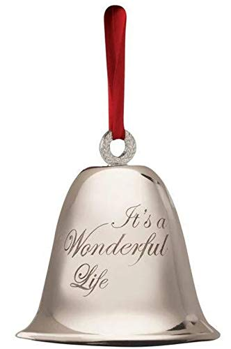 Its a Wonderful Life Bell Christmas Decoration Souvenir Keepsake Ornament in a Bedford Falls Gift Box