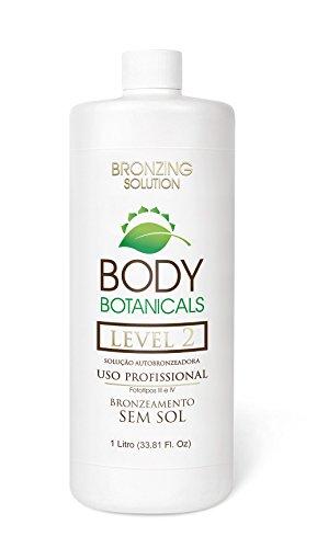 SUNLESS TANNING 10% DHA Professional Airbrush Spray Tan Organic Solution by Body Botanical, UV Free Dark, Spray Tanning formula, Long Lasting, Natural Bronze Color Self Tanner. 33.8 oz.