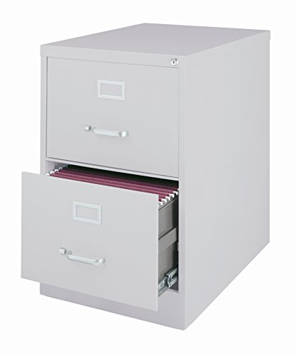 Office Dimensions Commercial 2 Drawer Legal Width Vertical File Cabinet, 26.5'' Deep - Gray by Office Dimensions